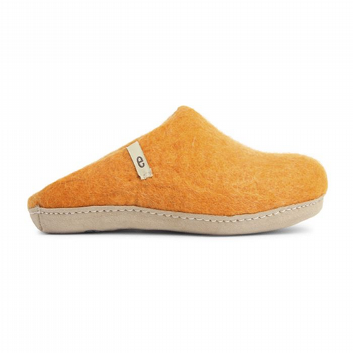 Women's Wool Slippers - Orange